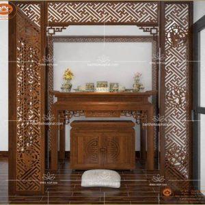 Bàn thờ tủ thờ BT19 – Mẫu phòng thờ đẹp án gian thờ hiện đại