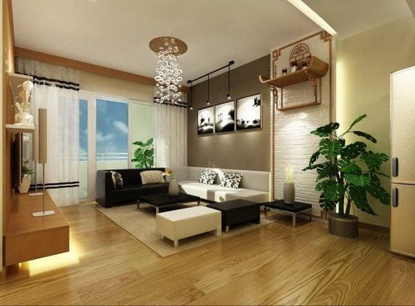 Kết hợp bàn thờ treo tại phòng khách chung cư