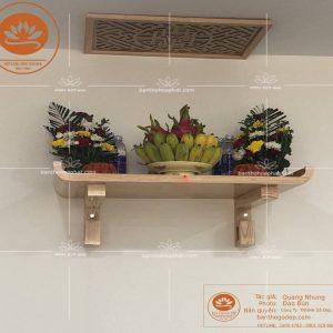 Mẫu bàn thờ treo tường loại to TT03S – Bàn thờ treo tường gỗ sồi đẹp