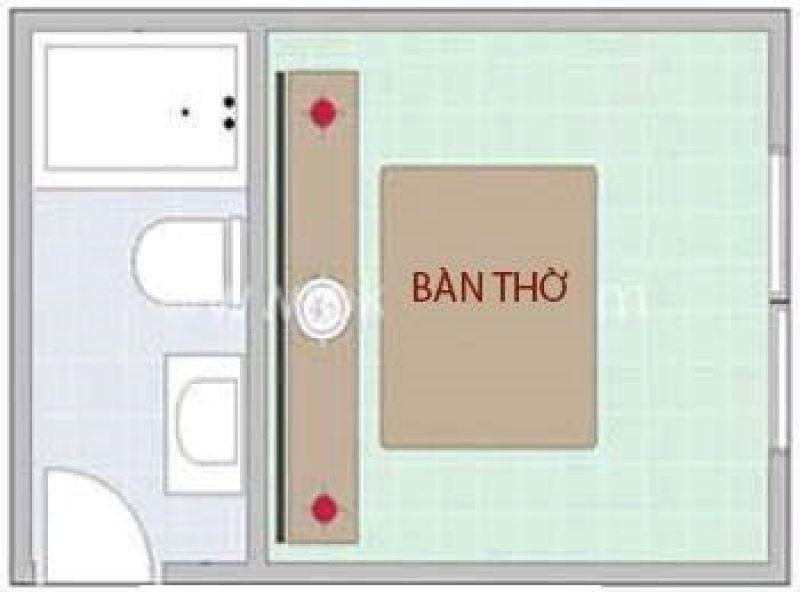 Tuyệt đối tránh đặt bàn thờ sát nhà vệ sinh