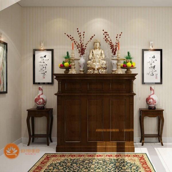 Mẫu tủ thờ 1 tầng phù hợp sử dụng cho căn hộ chung cư