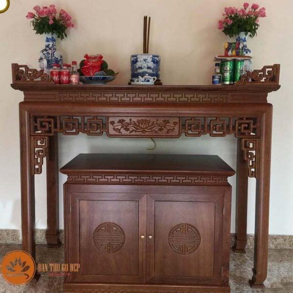 Cách chọn tủ thờ gỗ gõ đỏ bền, đẹp để rước tài lộc vào nhà