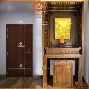 Mẫu bàn thờ hiện đại BT33 – Bàn thờ đẹp gỗ mít