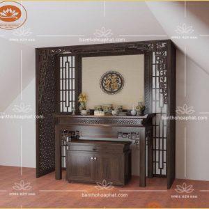 Mẫu bàn thờ hiện đại BT 119 – mẫu bàn thờ vạn lộc vạn phú