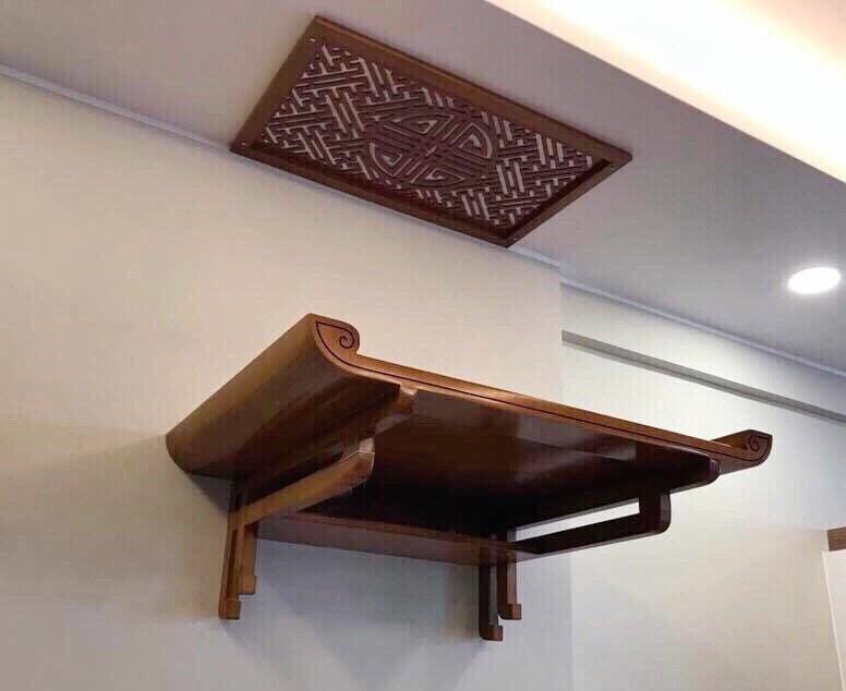 Bàn thờ treo tường là giải pháp toàn diện cho mọi nhà