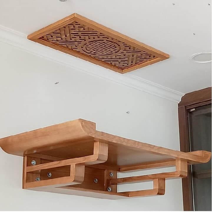 Ở chung cư nên đặt bàn thờ treo tại không gian chung của gia đình