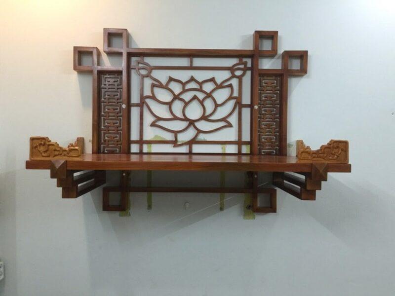 Kiểu bàn thờ treo tường hoa sen