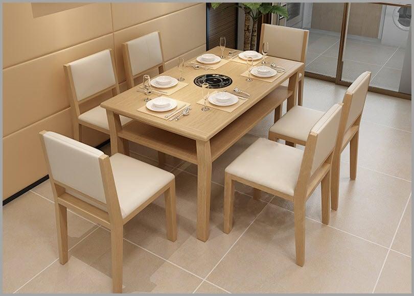 Lựa chọn kĩ lưỡng chất liệu và màu sắc bộ bàn ăn