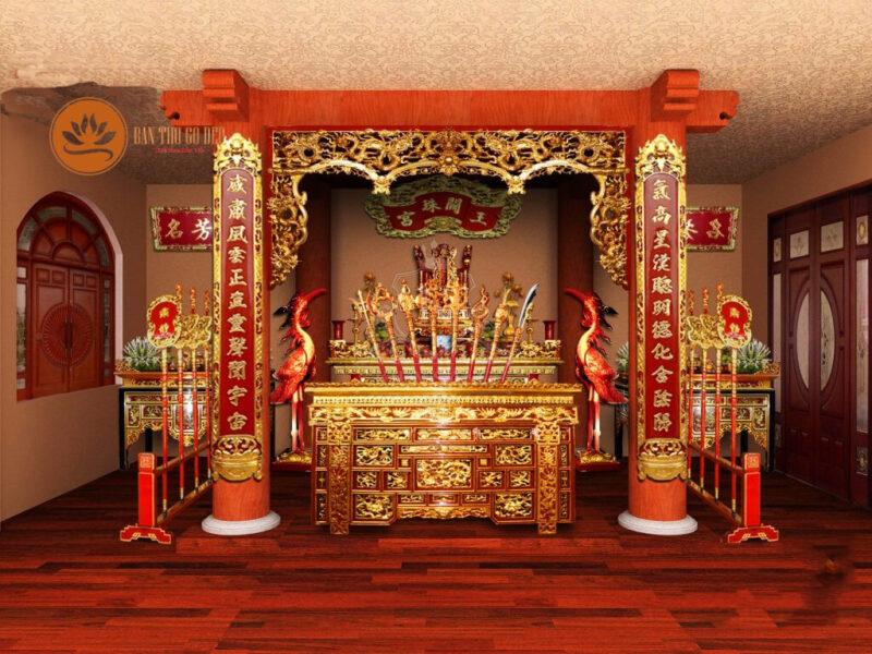 Bố trí bàn thờ từ đường chuẩn phong thủy