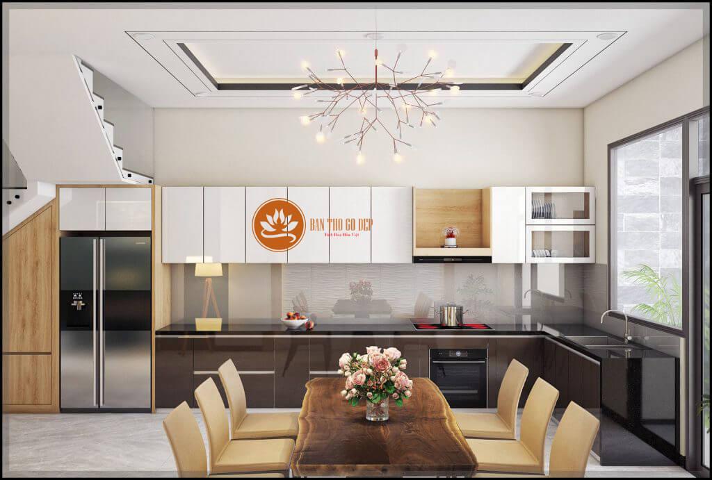 Bàn thờ bếp với thiết kế nhỏ gọn
