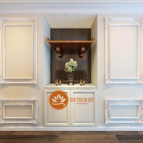 Bàn thờ âm tường giải pháp hoàn hảo cho nhà có diện tích nhỏ