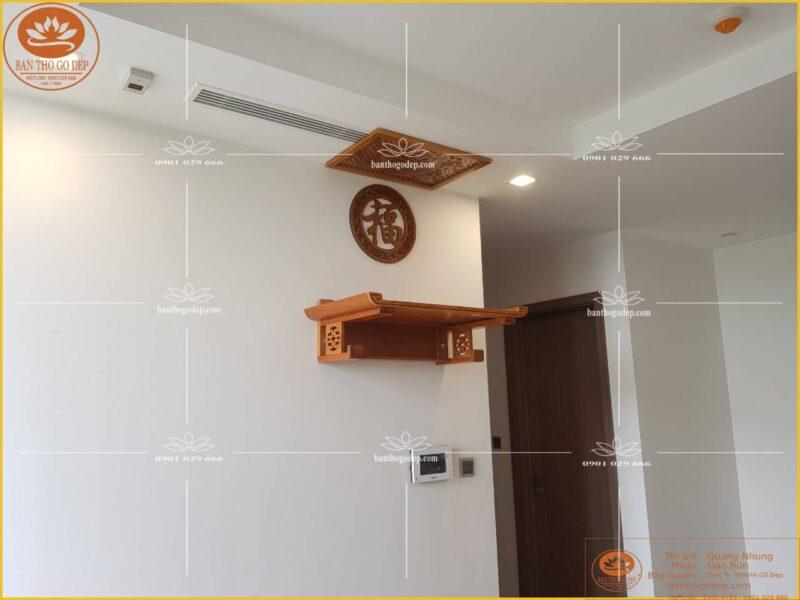 Bàn thờ treo tường gỗ Mít TT01M