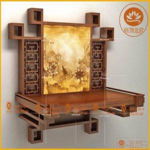 Bàn thờ treo tường TT36H – Gỗ sang rước vàng hái lộc