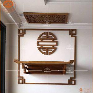 Bàn thờ TT05M- Bàn thờ treo tường gỗ mít – Chân thang