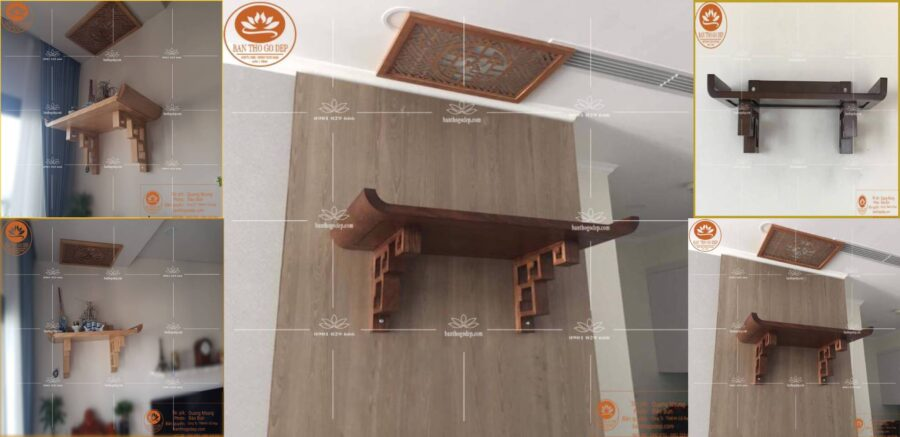 Mẫu bàn thờ treo tường chung cư TT 06 S