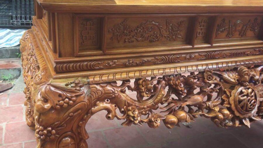 Họa tiết đặc trưng của sập thờ mai điểu