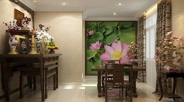 Họa tiết hoa sen phù hợp với tín ngưỡng người Việt Nam