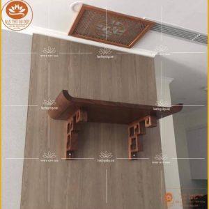 Bàn thờ treo tường đẹp TT06S – Mẫu bàn thờ chung cư hiện đại đơn giản