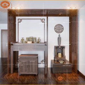Tủ bàn thờ đẹp đơn giản BT78- Mẫu án gian thờ đẹp giá rẻ