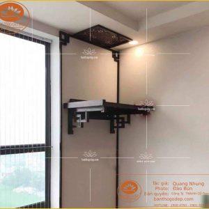 Bàn treo tường gỗ gụ TT26G – Bàn thờ chung cư bền đẹp đẳng cấp