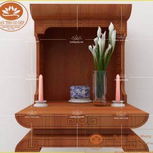 Bàn thờ đẹp thần tài OTT01 – Bàn thờ thổ địa thần tài hiện đại
