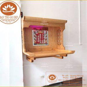 Bàn thờ Ông Địa OTT15 – Kệ thờ thần tài treo tường