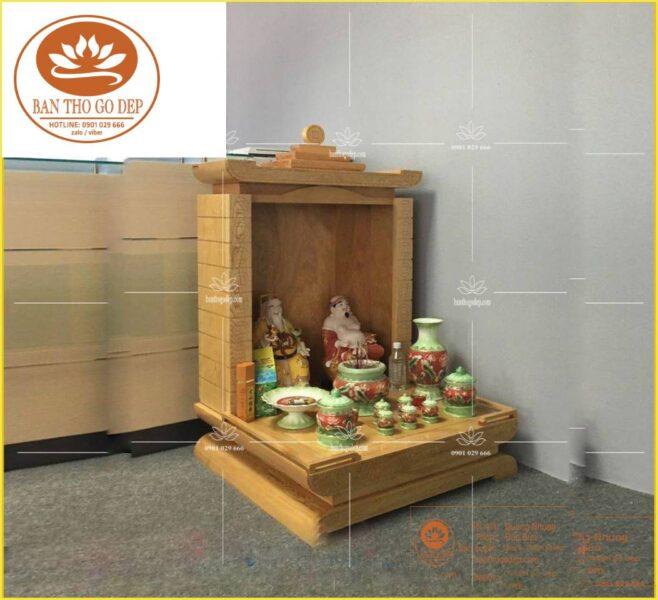 Mẫu bàn thờ ông địa bàn thờ thần tài điển hình