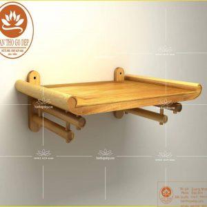 Bàn thờ treo TT22 tài vượng – gỗ sồi nguyên tấm chuẩn phong thủy