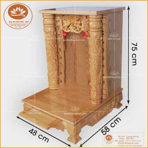 Bàn thờ ông địa thần tài OTT07- Bàn thờ thần tài nhỏ hiện đại