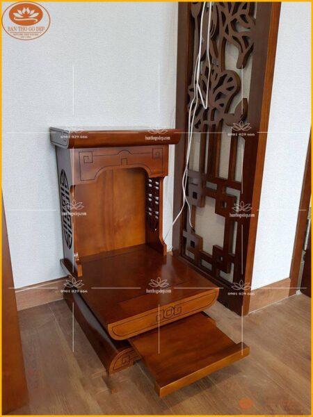 Bàn thờ thổ địa thần tài thường đặt ở góc nhà