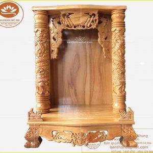Bàn thờ thần tài đẹp OTT12 – Bàn thờ thổ địa gỗ sồi cao cấp