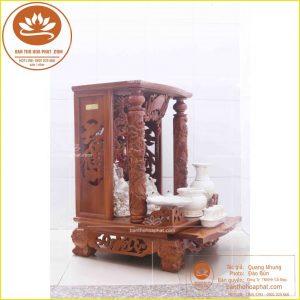 Bàn thờ thần tài gỗ hương OTT11- Bàn thờ ông địa đẹp hiện đại