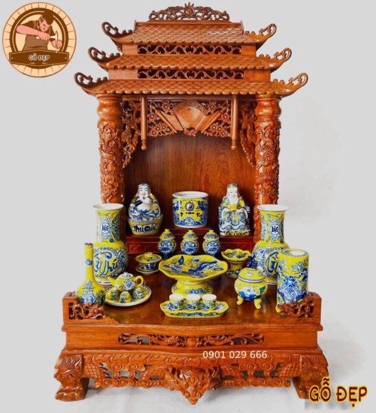 Bát hương lư hương trên bàn thờ ông địa cần hạn chế đụng chạm