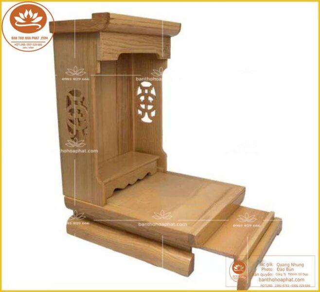Mẫu bàn thờ ông địa thần tài nhỏ gọn tiết kiệm không gian