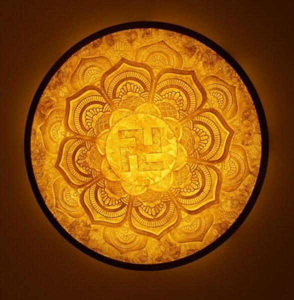 Hình ảnh Tranh trúc chỉ Mandala.