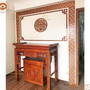 Bàn Thờ Tủ Thờ BT08 – mẫu bàn thờ triện sen