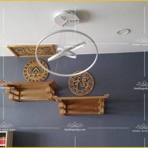 Bàn Thờ Treo Tường TT80 – Mẫu Lắp Đặt 2 Bàn Thờ