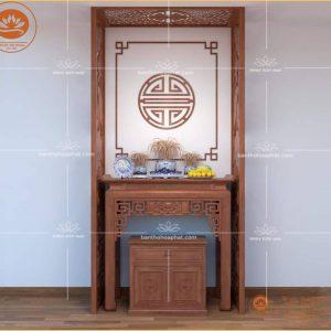 Bàn Thờ Tủ Thờ  BT 08 – mẫu bàn thờ triện sen