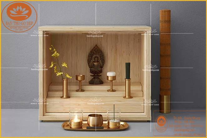 Một chiếc bàn thờ thần tài điển hình