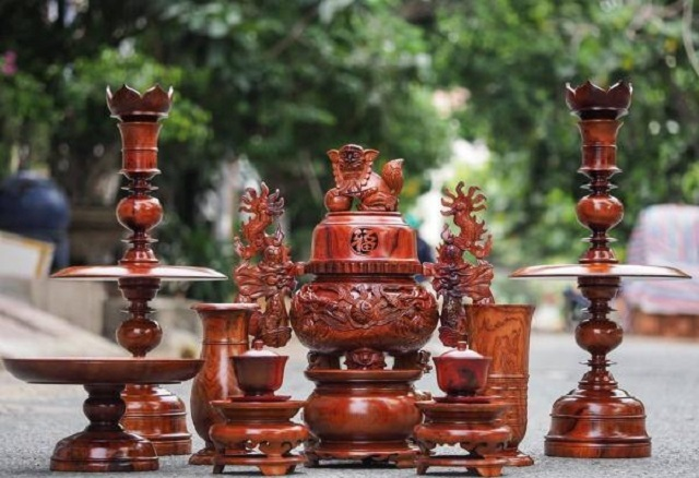 Giới thiệu bộ đồ thờ bằng gỗ chín món
