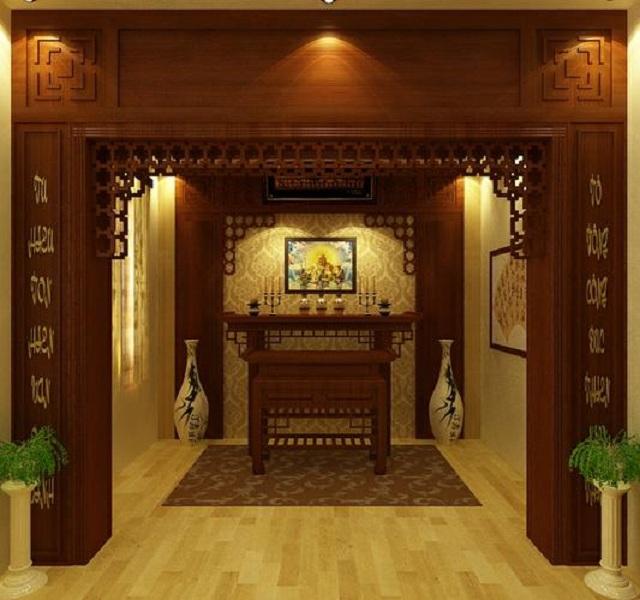 Hướng dẫn trang trí nội thất phòng thờ