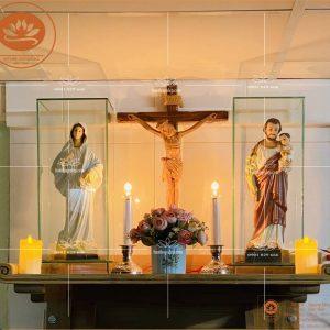 Bàn thờ công giáo đẹp TT07 – Mẫu bàn thờ công giáo hiện đại