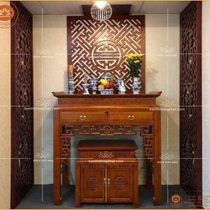 Bàn thờ đẹp hiện đại BT06 – Mẫu bàn thờ vạn phúc vạn thọ