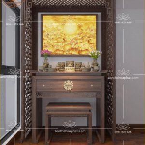 Bàn Thờ Gỗ Đẹp BT117 – Mẫu bàn thờ vạn lộc