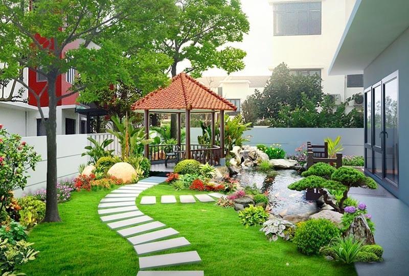 Thiết kế nội thất biệt thự hiện đại gần gũi với thiên nhiên