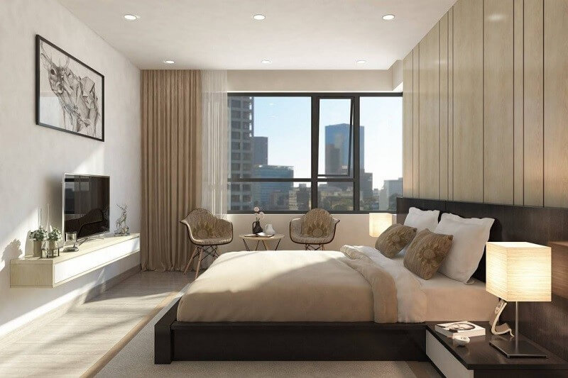 Thiết kế tinh giản phòng ngủ tạo ra không gian thoáng đãng