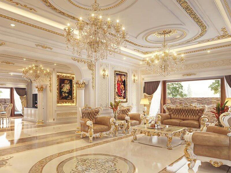 Kiến trúc nội thất uy nghi, lộng lẫy.
