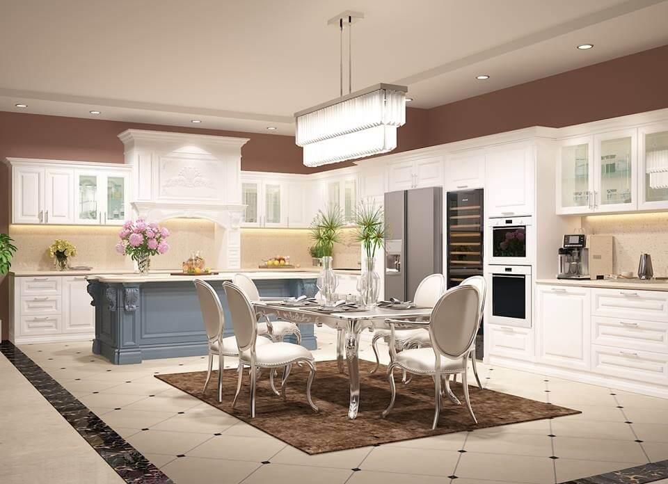 Thiết kế nội thất biệt thự đẹp dành cho phòng bếp