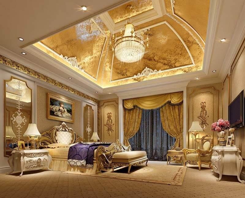 Phòng ngủ đậm nét hoàng gia quyền quý