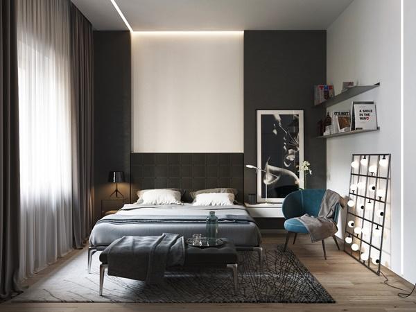 Phòng ngủ tạo một cảm giác dịu dàng, tinh tế